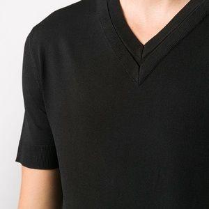 Neil Barrett Men's Doble V-Neck T-shirt